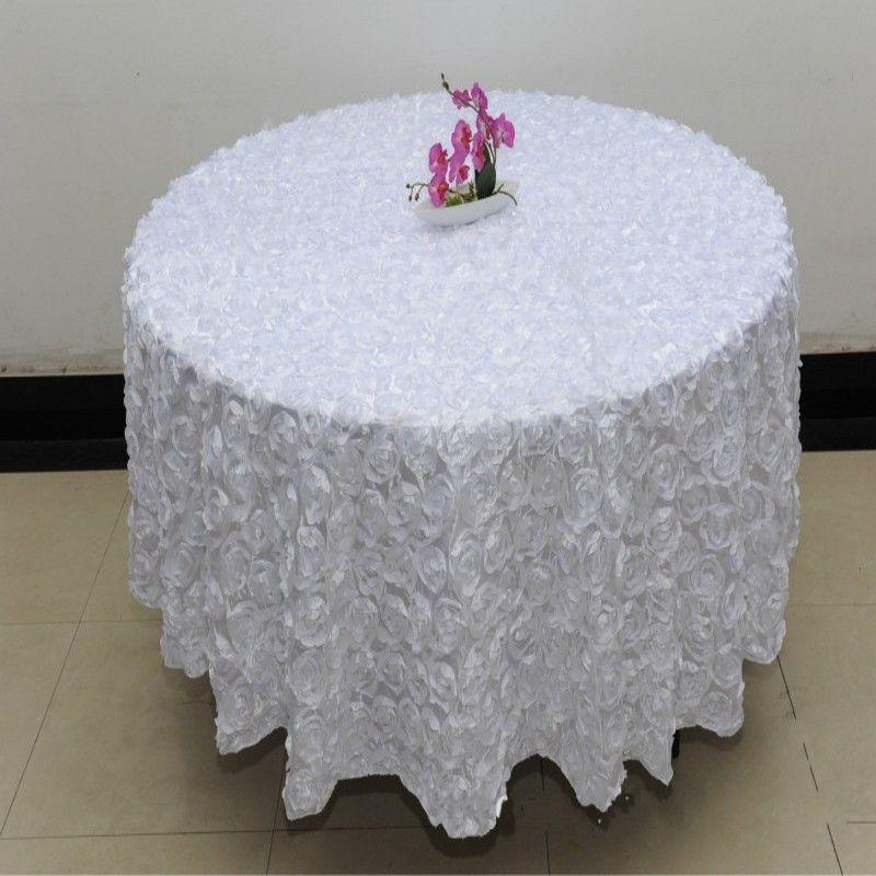 Décoration Fête Blanc Rose Couleur Mariage Nappes Banquet 3D Fleurs Acheter De Rose Table Bleu De Or Violet 2 Pour De Couleur 6M Mariage Rond Gros sxBothQrdC