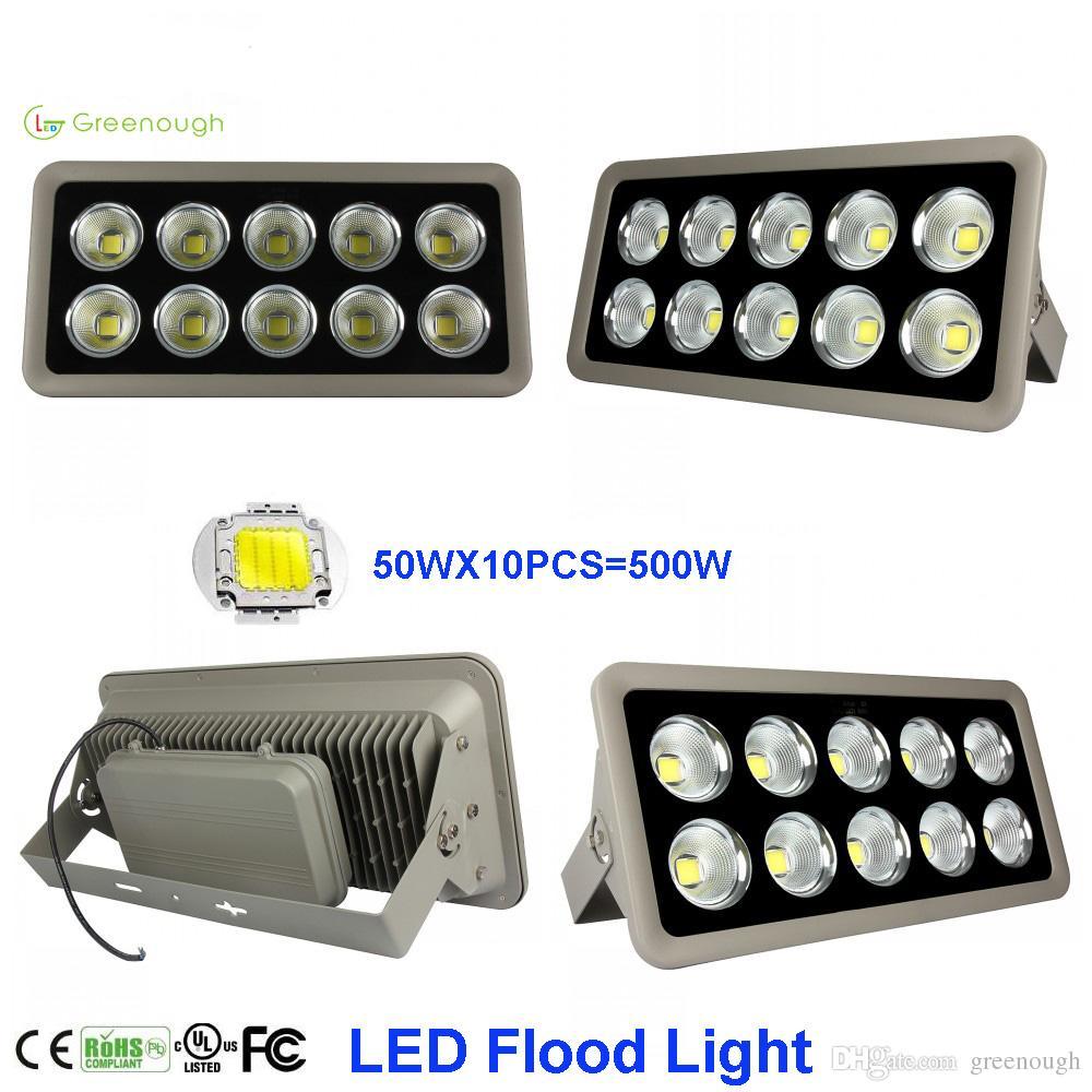 Yüksek Güç COB LED Sel Işık 150 W 200 W 300 W 400 W 500 W Su Geçirmez Açık Bahçe Spot Ticari Projektörler AC85-265V