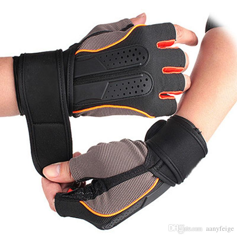 4 Colors Gym Body Building Training Fitness Gloves Outdoor Sports Equipment Weight lifting Workout Exercise breathable Wrist Wrap