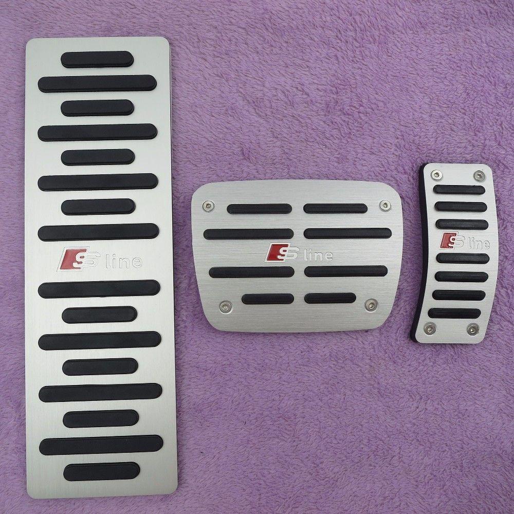 Accesorios para automóviles para Audi A4 A5 A6 A7 A8 Q5 B6 B7 B8 C5 C6 AT Acelerador Pedal de freno Pedal Placa de almohadilla, estilo Etiqueta de la cubierta
