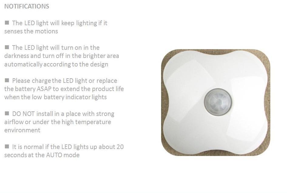 Bathroom Lights Keep Turning Off 2017 motion sensor light,four leaf clover,family emergency night