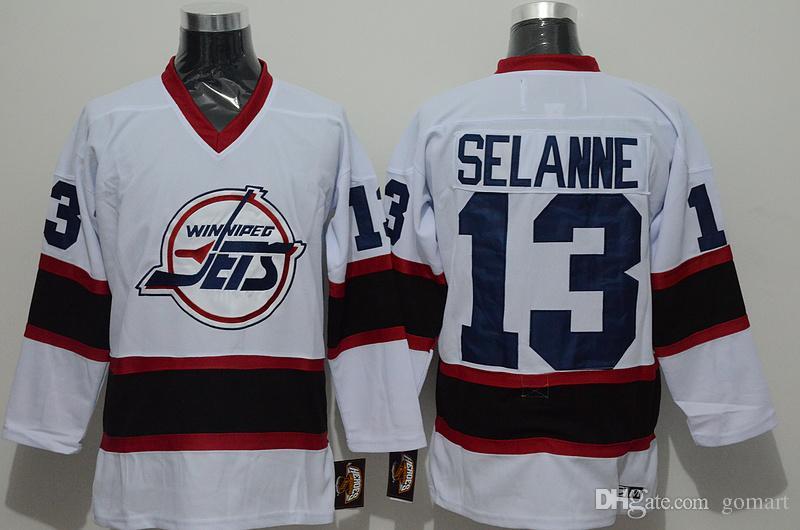 38cfe795 ... NHL 13 Winnipeg Jets 2017 Winnipeg Jets Men Jersey 10 Dale Hawerchuk 13  Teemu Selanne White Blue Ccm Throwback Stitched ...