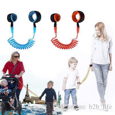 Crianças Anti Perdido Strap 1.5M crianças Pulseira de segurança de pulso Fazer a ligação da criança Harness Leash Strap Pulseira bebê Wrist Leash Walking Strap OOA6952
