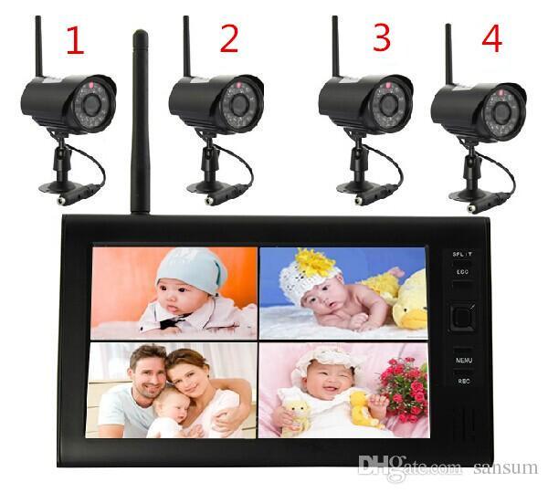 7 بوصة مراقبة لاسلكية ديناميكية فيديو الأشعة تحت الحمراء للرؤية الليلية للماء تناسب كاميرا الفيديو الرقمية المنزلية اللاسلكية