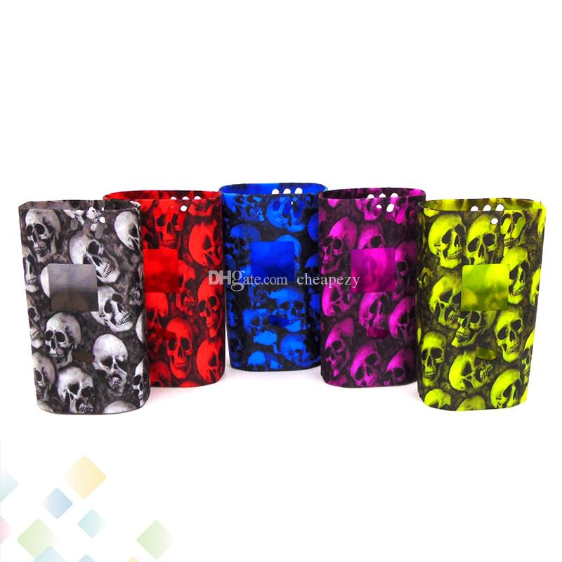 Skull Case Alien 220W Box Mod Proect Case Skull Head Soft Silicone Rubber Carry Bag Cover for Alien 220 Mods DHL Free