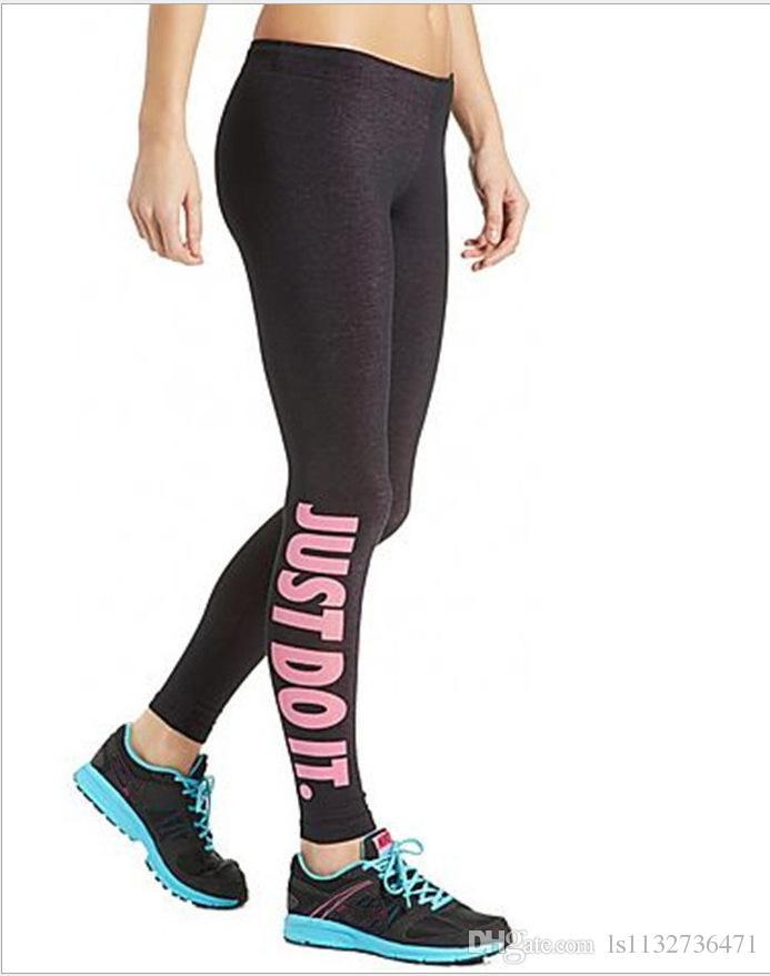 Compre Mujer Deporte Sex Leggings Yoga Just Do It Leggins Pantalones Ajustados Elasticos Slim Fitness Lapiz Moda A 13 16 Del Ls1132736471 Dhgate Com