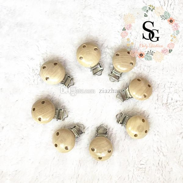 20 pcs per lot nature 3 holes wood baby pacifier clips,wood pacifier clips,safe certified pacifier clips,natural wood clips