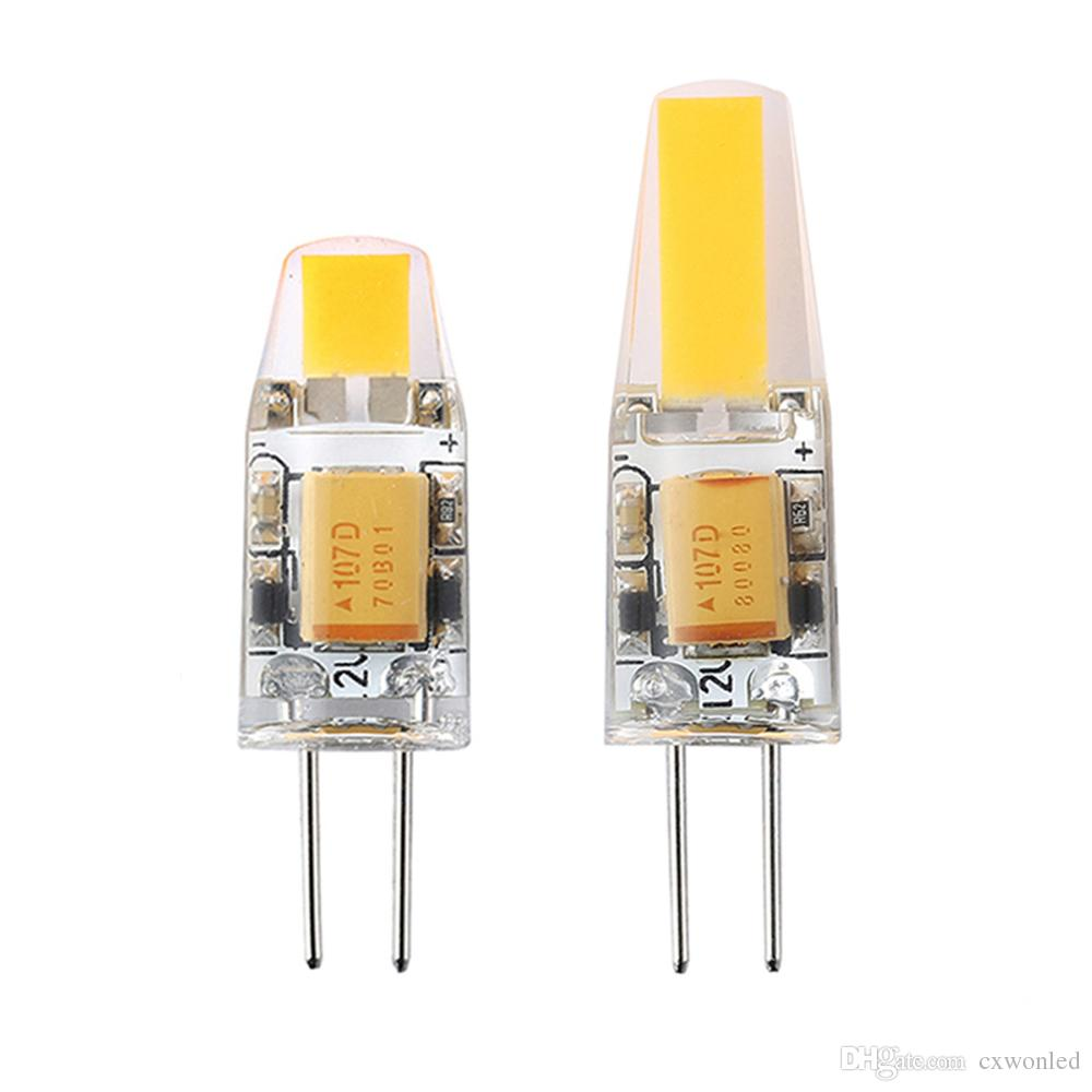 디 밍이 G4 LED 12V AC / DC COB 빛 2W 4W LED 전구 샹들리에 램프 할로겐 조명 100PCS / 바꾸기 많은