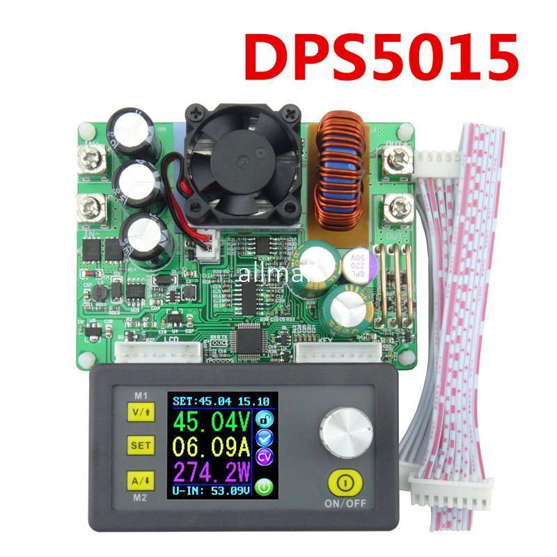 Freeshipping DPS5015 Programmable control supply Power 0V-50V 0-15A Converter ConstantCurrent voltage meter Step-down Ammeter Voltmeter