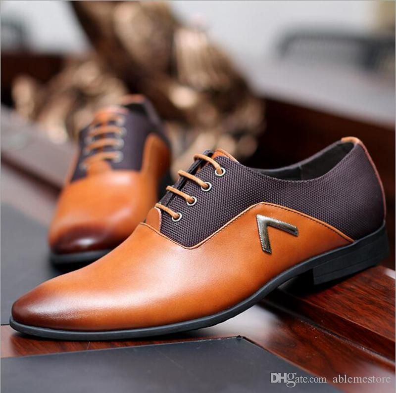 New 2017 Genuine Leather Shoes Men