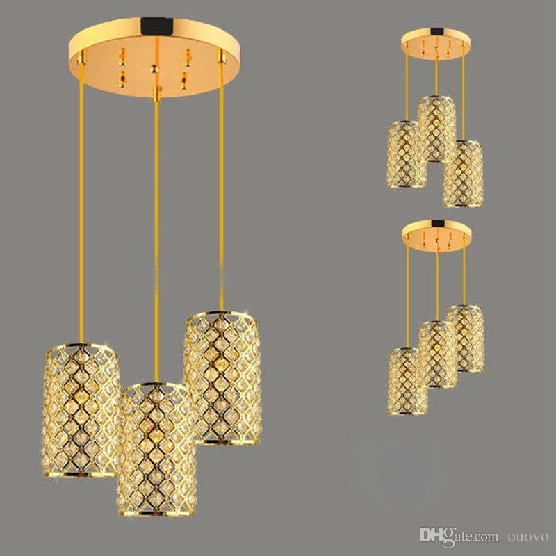 Nova marca de cristal restaurante teto pingente lâmpada moderna sala de jantar uniqlo lâmpada corredor corredor de corredor de iluminação de pingente