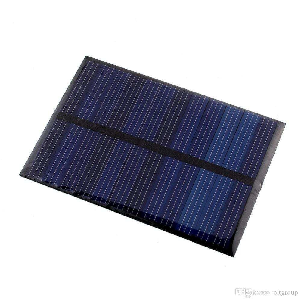DIY 80x55 6V 100MA 0.6W Polycrystalline Solar Power Panel Module For Mobile Power Bank Battery Cell Phone Toys Chargers Portable