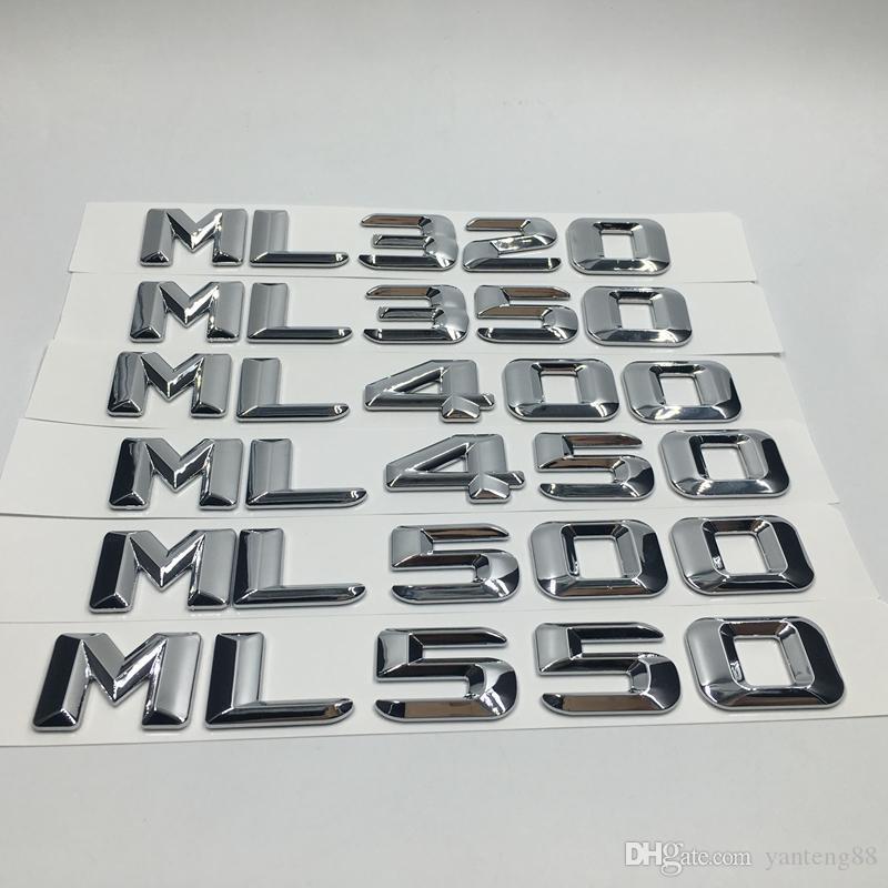 ملصقات السيارات كروم ML320 ML350 ML400 ML450 ML500 ML550 الخلفي جذع شارة رسائل لمرسيدس بنز ML الفئة