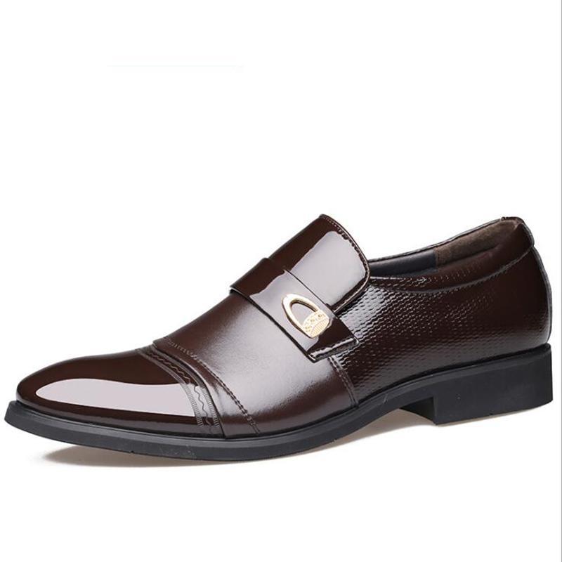 Scarpe da uomo in pelle Scarpe da festa in vera pelle da uomo Scarpe da lavoro in pelle verniciata moda Scarpe oxford da lavoro
