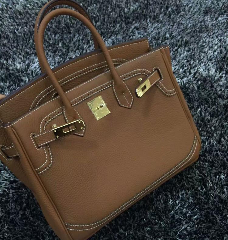 2016 Luxury H Handbag Women\`s Litchi Cowhide Messenger Bag Genuine Leather Famous Designer Shoulder Crossbody Totes Ladies Bolsa (7)