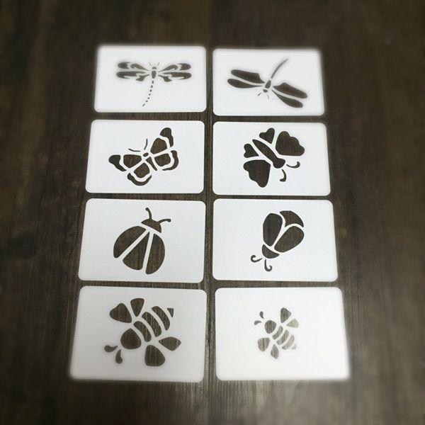 Mariposas /& abejas plantilla hoja de máscara reutilizable PP para Artes y Artesanías