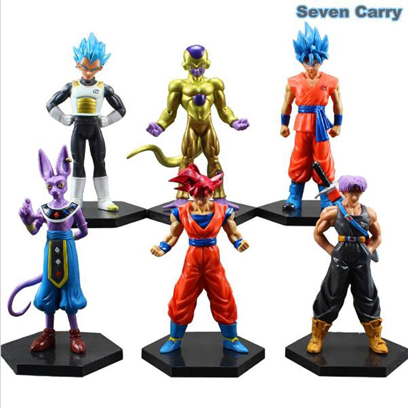 6pcs/set Dragonball Z Dragon Ball DBZ Anime 12-14cm Goku Vegeta Piccolo Gohan super saiyan Joint Movable Action Figure Toy