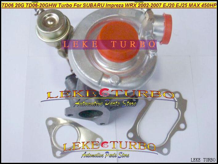 TD06 20G TD06-20GHW Turbo Turbocharger for SUBARU Impreza WRX 2002-2007 MAX HP 450HP Engine EJ20 EJ25 (5)