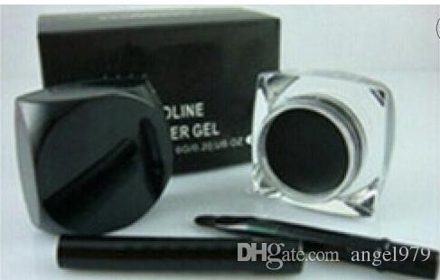 Trasporto libero più nuovo trucco per eyeliner nero impermeabile da 12 pezzi