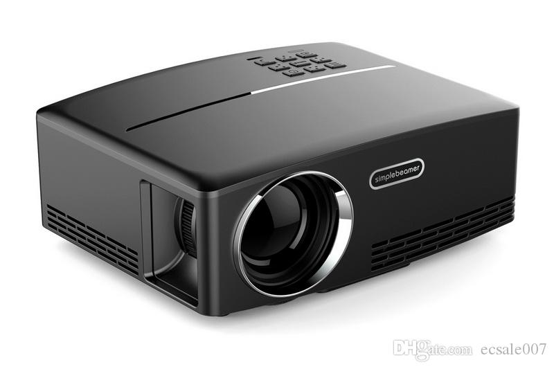 """GP80 العارض 1080P بالألوان الكاملة 180 """"LED العارض 1800 لومينز 800 * 480 بكسل 2200: 1 نسبة التباين مع HD-IN VGA AV USB PK UC46"""