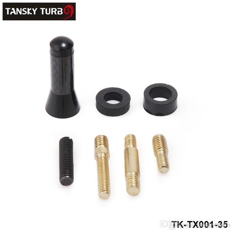 """Танский - Универсальный мини 1,38"""" волокна углерода Короткие антенны Радио автомобилей Антенна Антенна для большинства автомобилей Silver Black Длина 3.5см TK-TX001-35"""