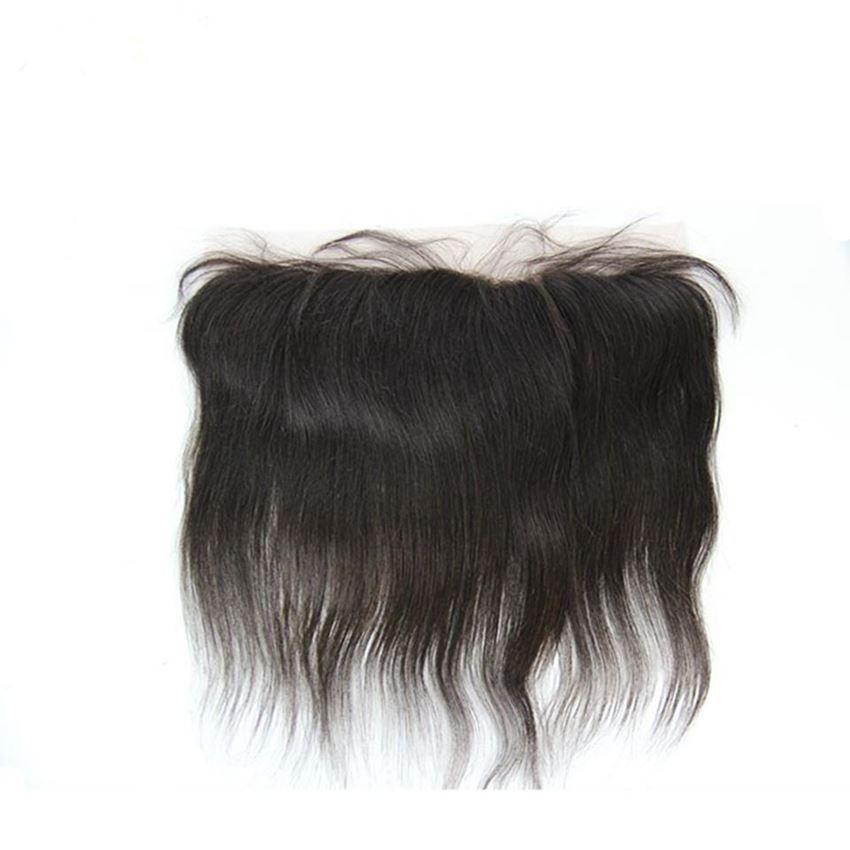 7A Brezilyalı bakire saç düz döneme dönemi dantel ön kapatma 13 x4 brezilyalı saç frontal kapatma İnsan saç ücretsiz kargo
