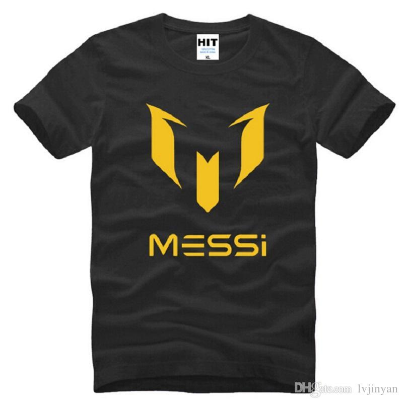 Nuevo Diseñador Messi T Shirt Hombres Moda Fútbol Jerseys de Manga Corta Algodón Argentina Star Tops Camisetas Hombre Fútbol Deporte Camiseta