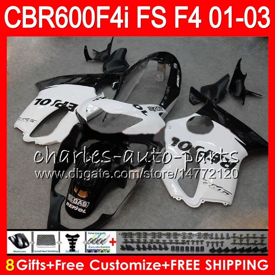 Complete Alloy Motorcycle Body Fairing Bolt Kit Body Screws For Honda CBR600F4i CBR 600 F4i CBR 600F4i 2001-2003