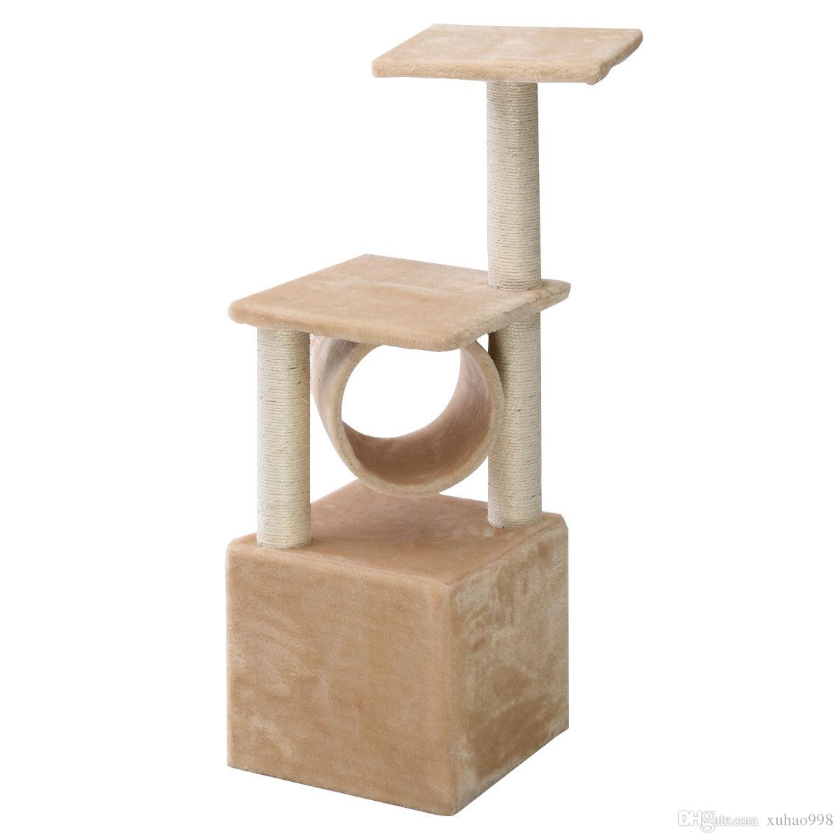 2021 Deluxe 36 Cat Tree Condo Furniture Play Toy Scratch Post Kitten Pet House Beige From Xuhao998 28 15 Dhgate Com