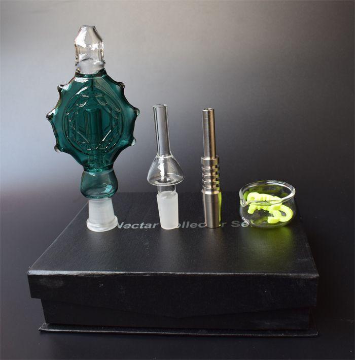 NUOVO NC Kit bong di vetro Vetro Tubi di fumo Pendenti Domeles Titanio Vetro per unghie riciclatore DAB bong oil rig bong