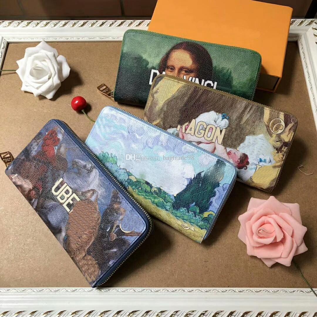 mulheres marca Coin real Carteiras de couro Cartão de Longo Bifold Carteiras frete grátis bolsa CX # 305 Com Box Bag M64605