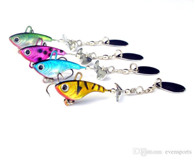 Señuelo de la pesca en el mar 12g Plomo Jig Head Fish VIB Spinner Cebos Señuelos artificiales de la cuchara Metal Jigs