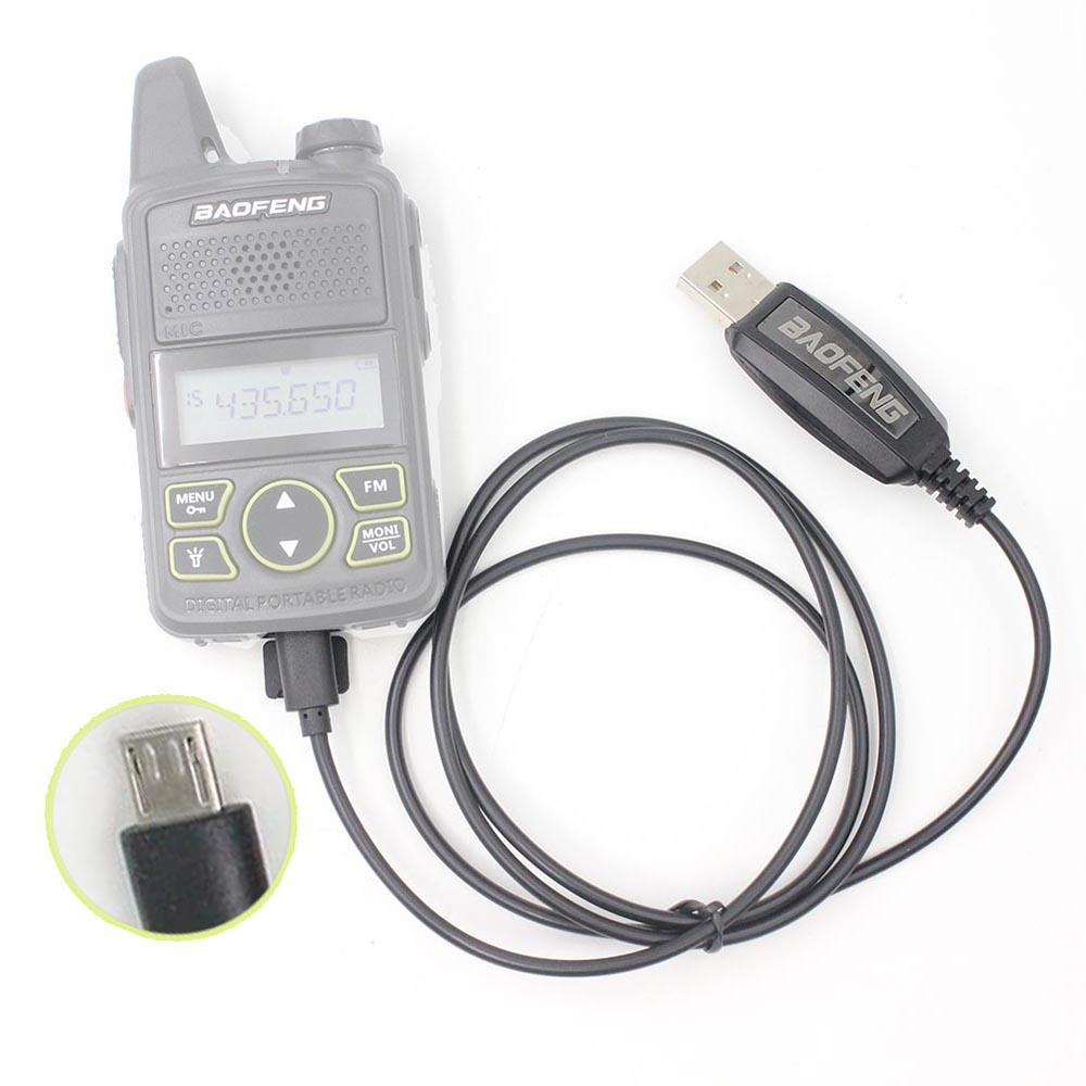 USB Programming Cable Interface Data Cable for BAOFENG BF-T1 UHF 400-470mhz Mini Walkie Talkie