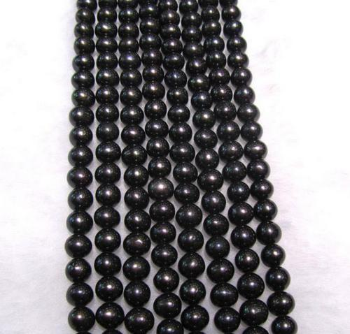 6-7mm Schwarz Natürliche Südsee Perlenkette 17 Zoll 925 Silber Verschluss