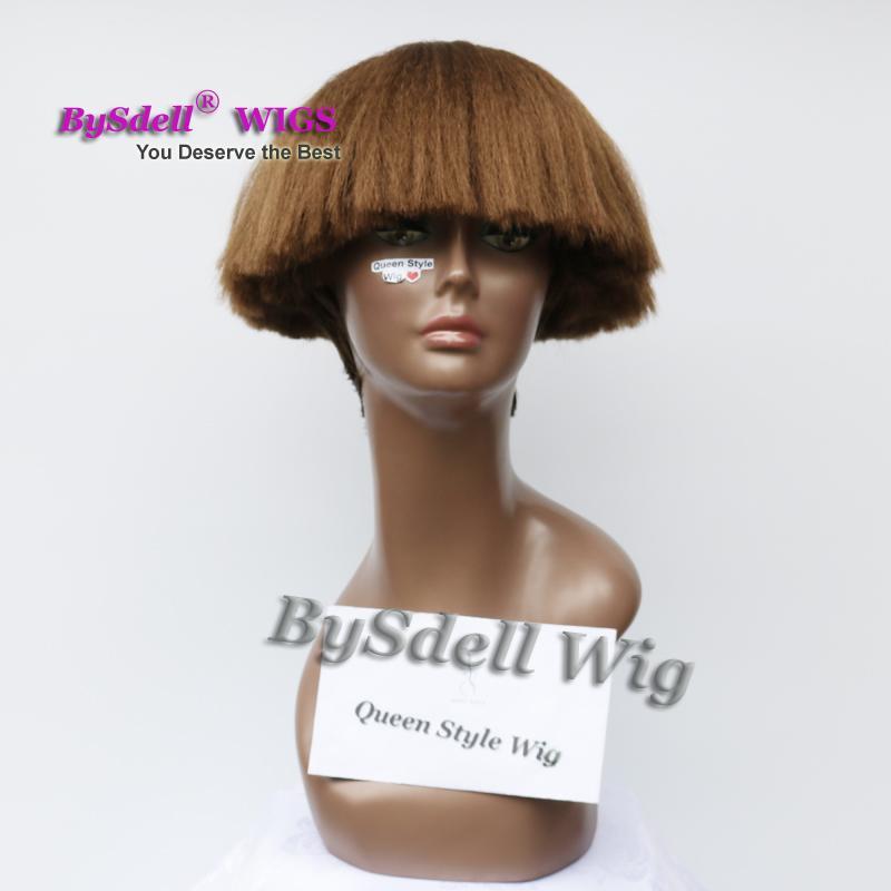 Синтетические вдохновил волокна волос парик короткие кудрявый вьющиеся шлем парики в черный красный серебристо-серый коричневый светлый цвет Афро-Американский парик