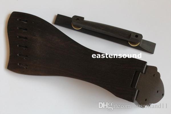 Cola de caballo de ébano macizo con puente para guitarra de 6 cuerdas