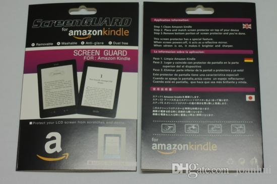 10pcs / lot Amazon Kindle 4 / 터치 / paperwhite 소매 패키지 용 안티 글레어 무광택 화면 보호기