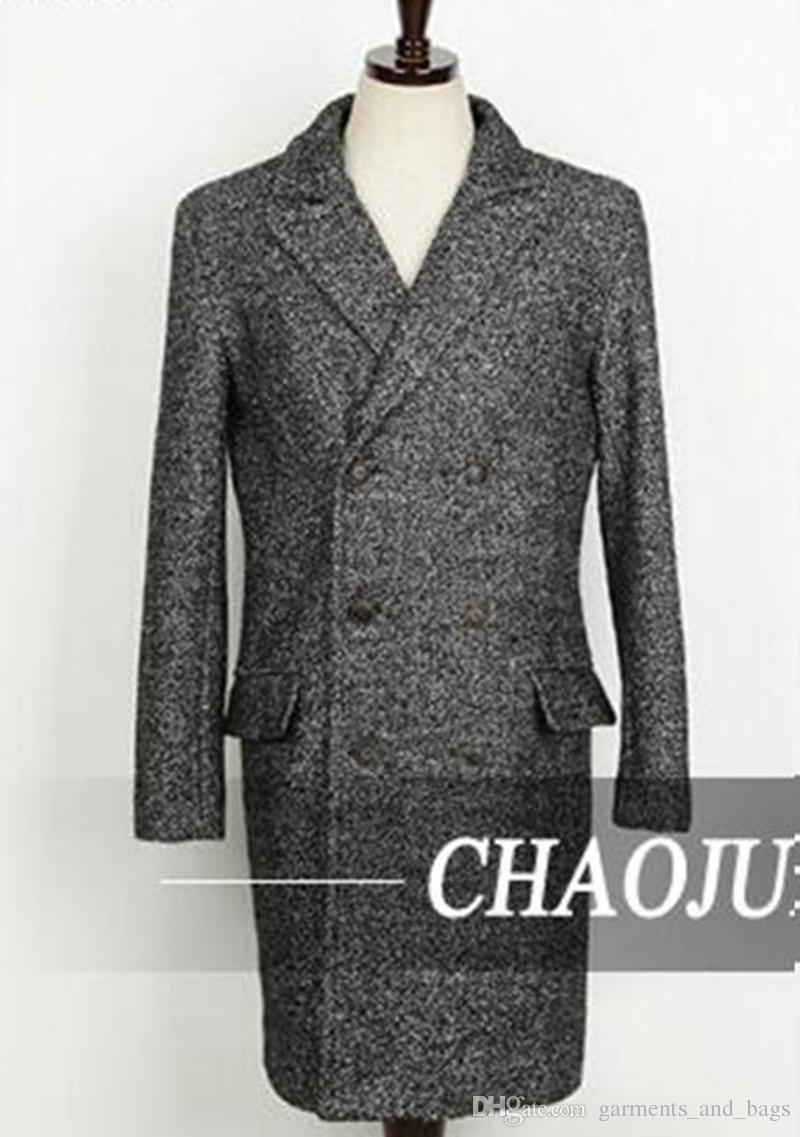 Europäischen und amerikanischen mode heiße art feine han edition männer winter lange vertraglich staubmantel tuch mantel große yards / S-5XL