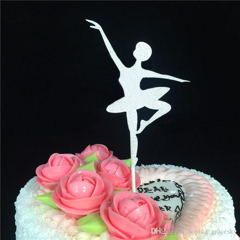 Prime Glitter Paper Ballet Dancer Birthday Cake Toppers Kids Birthday Funny Birthday Cards Online Elaedamsfinfo