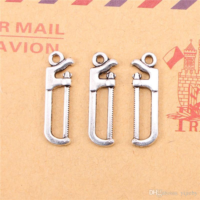 118 piezas de plata tibetana plateada vieron los colgantes de los encantos para la fabricación de joyas DIY artesanía hecha a mano 25 * 7 mm