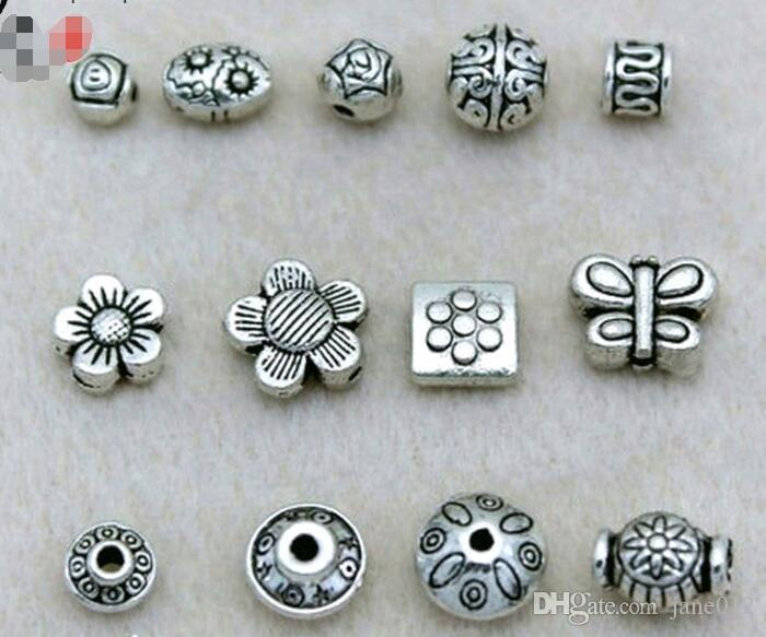 100Pcs Tibetan Silver Charms DIY Spacer Beads For Jewelry Findings 6MM ca