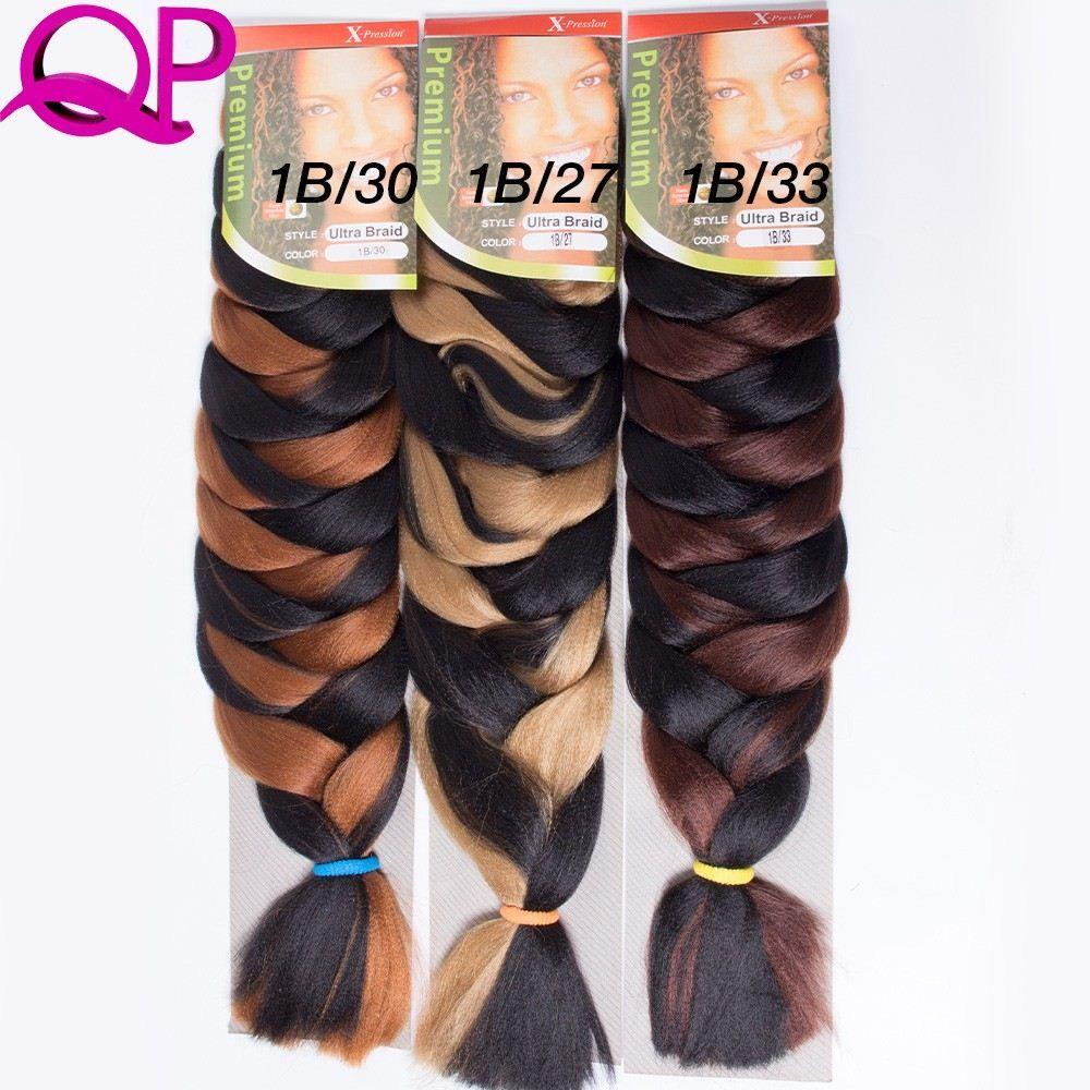 Box-Braid--Kanekalon-Jumbo-Braid-Hair-165g-ultra-kanekalon-x-pression-braiding-hair-25-100pcs