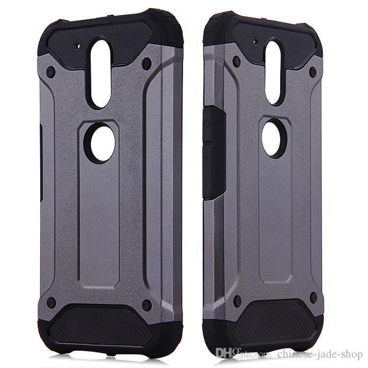 POUR MOTOROLA MOTO G5 G5 PLUS MOTO G6 G6 PLUS Galaxy J2 PRIME J3 PRIME 10 couleur Armure Hybrid Defender Case TPU + PC Housse antichoc 50PC