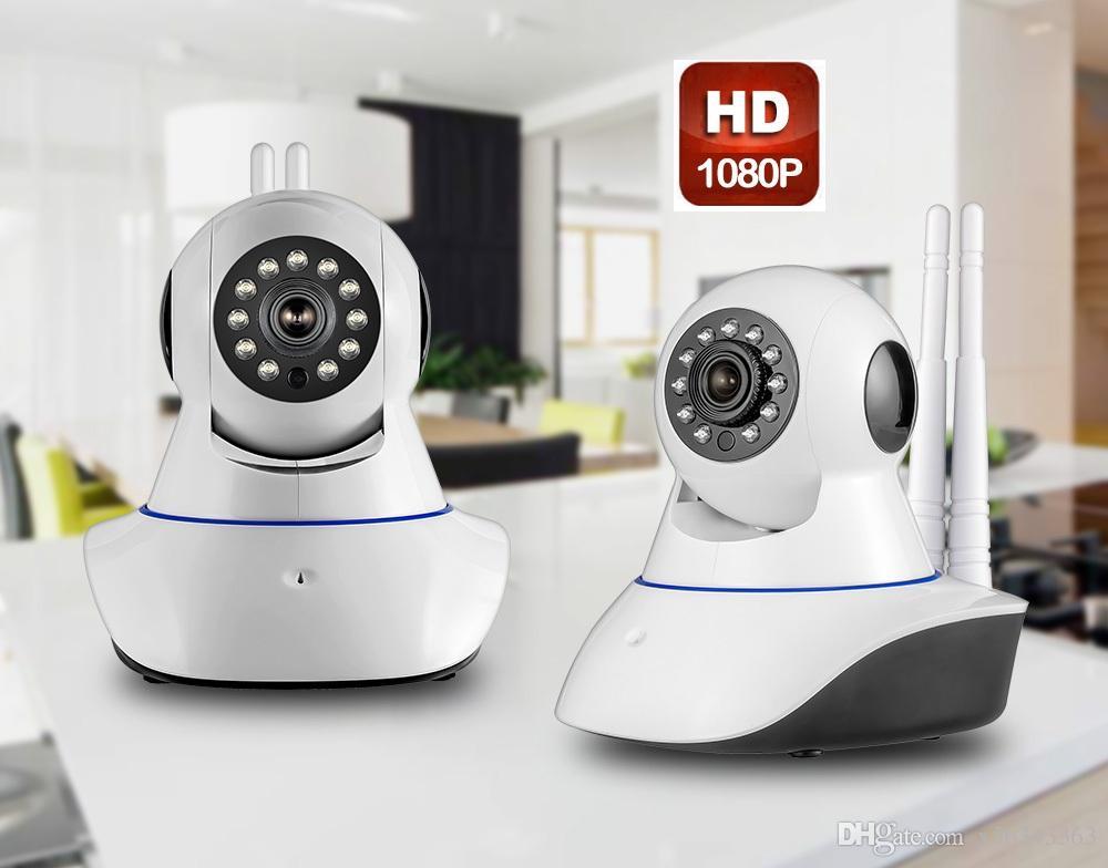 Double antenna Camera wireless IP camera WIFI Megapixel 1080p HD indoor Wireless Digital Security CCTV IP Camera + 32G TF memory card 1PCS