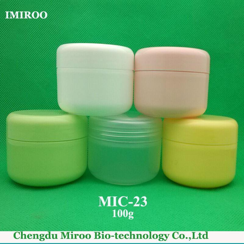 Contenitore di plastica del barattolo cosmetico vuoto libero di trasporto 10PCS 100g pp con i coperchi doppi