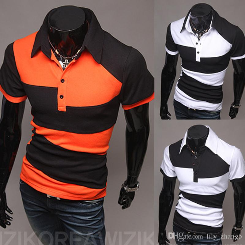 Hot Short T-Shirts Spring Casual Mens Clothing Marca diseñador Sport T Shirt Hombres Camisetas Fitness para hombres New Arrival Best quality M-3XL