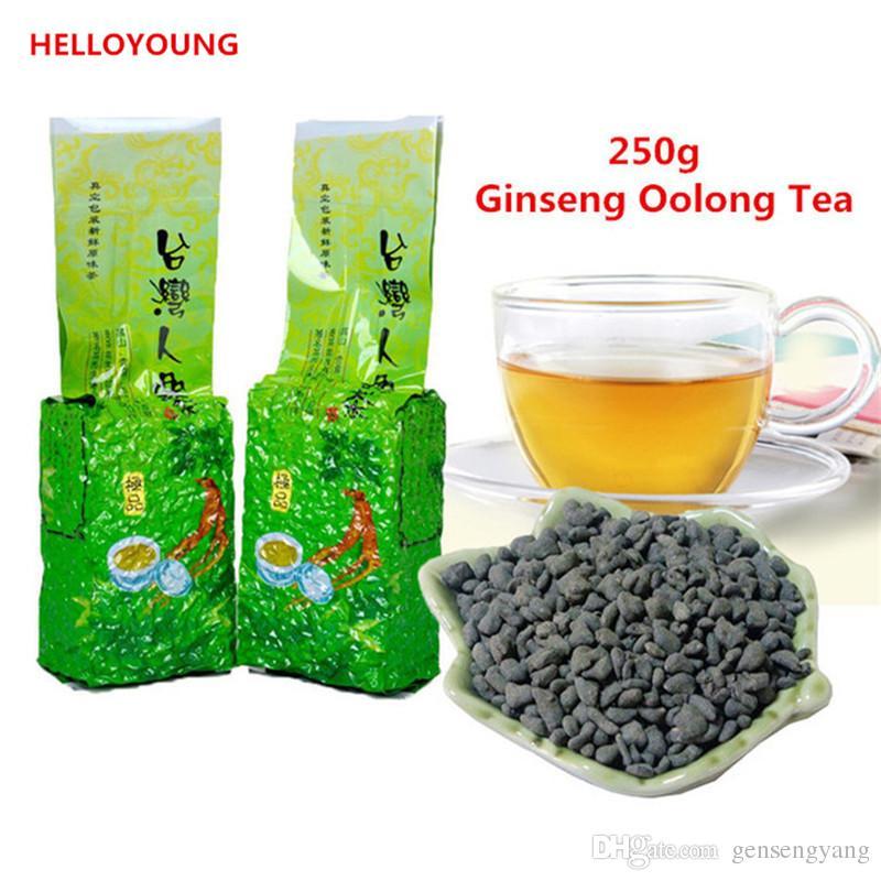 Vendas quentes C-WL046 Promoção! 250g Famosos Cuidados de Saúde Taiwan Ginseng Oolong Chá, Chinês Ginseng Chá, Chá Wulong