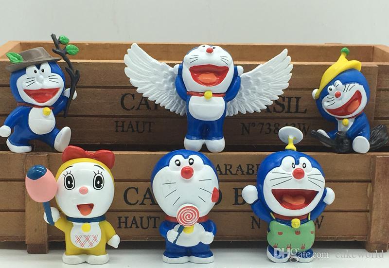 30 pz (5 set) cartoon Angelo ala Volare jingle doraemon figurine bonsai in miniatura per terrari ornamento mini jardim casa delle bambole giocattoli