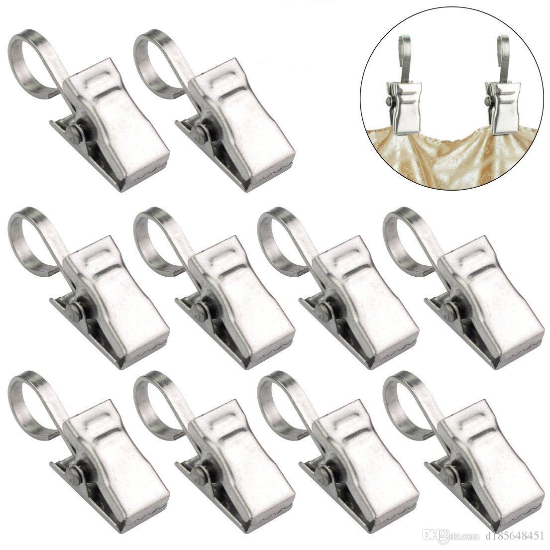 2019 Stainless Steel Thickening And Hardening Shower Curtain Clip Rings With Hooks Home Decor Strong Bearing Beautiful And Generou From D185648451