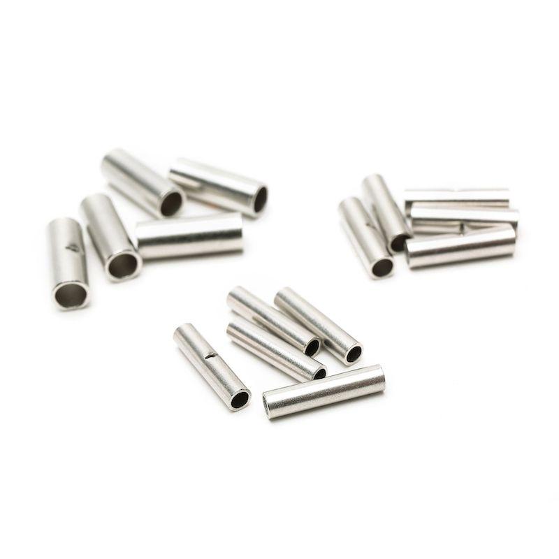 300PCS Suyep Metal plateado alambre sin aislamiento terminal de crimpado de cable terminales butt conector BN1.25 BN2 BN5.5 surtido kit